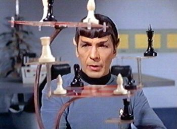 Mr Spock plays chess